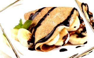 Как сделать блины с бананом и шоколадом